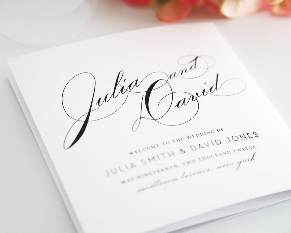Wedding program wedding programs vintage glam by shineinvitations