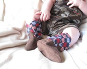 Red White and Blue Baby Cowboy Boots A Soft Sole Baby Shoe