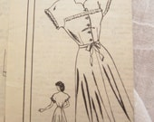 1940s Mail Order Vintage Sewing Pattern Aldenaire 4577 Button Front Day Dress Bust 34
