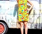 silk/cotton popsicle dress  - EXCLUSIVE DESIGNER PRINT