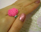 Sakura Blossom Flower Ring - Hot Pink // SALE and 100% DONATION to AHA