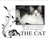Personalized Cat photo design frames your photo inserted intois adorable design Photo print or pet photo magnet
