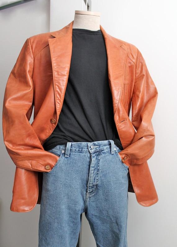 vintage Wilson buttery soft leather blazer // jacket // 44