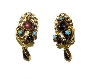 Vintage Earrings Regency style - Gorgeous 1950s Mode Art Earrings  - on sale