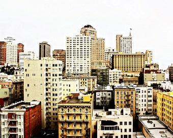 Fine Art Photograph - San Francisco - Downtown - California - Bay Area - City Scene - Skyscrapers - Buildings