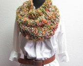 The Central Park Infinity Scarf Cowl Light Yellow Pink
