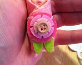Miniature  Hand Painted Babuska Baby Doll made with Polymer clay
