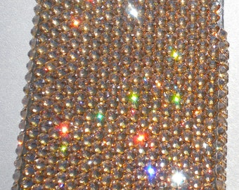 Stunning Luxe Gold Crystal Golden Shadow Diamond Rhinestone BLING Back Case for Apple iPhone 4 4G 4S handmade using 100% Swarovski Elements