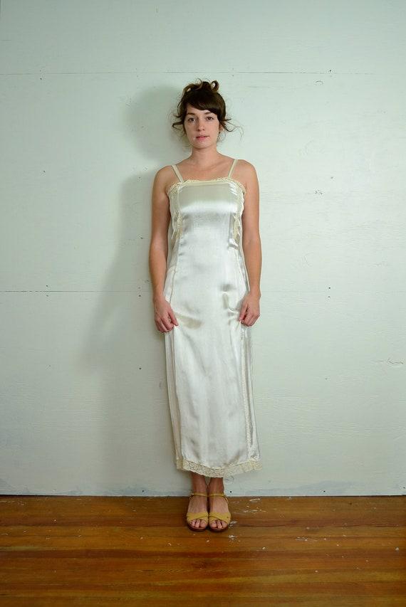 1920s Silk Slip // Small // Medium