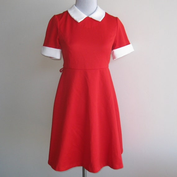 Vintage Girls Red Amp White Little Orphan Annie Costume Dress