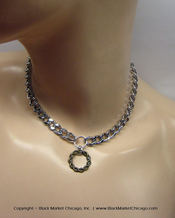 Choker Necklace Etsy: Items Similar To BDSM Day Collar Locking TWISTED ROPE