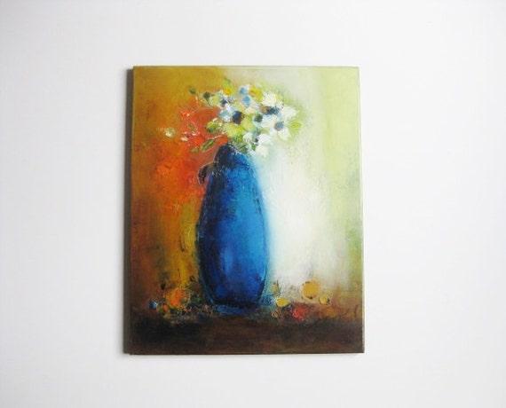 "oil on canvas 16""x20"" original oil on canvas ""White Flowers"" fine art still life"
