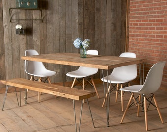 """Dining Table with Mid Century and Modern Rustic Style (72"""" x 36"""" x 30"""")"""