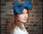 The Big Bow Headband in Cornflower Blue