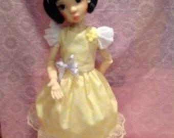 Miki Luvs Yellow Too ensemble for Msd Kaye Wiggs girls