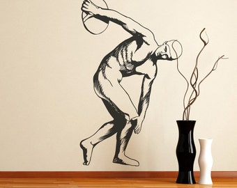 Vinyl Wall Decal Sticker Discus Thrower Statue OSMB538m