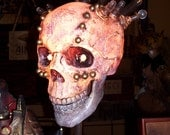 Steampunk Skull Lamp