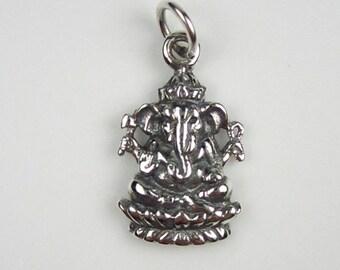 Sterling Silver Ganesh Charm