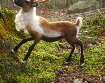 Needle felted reindeer - made to order