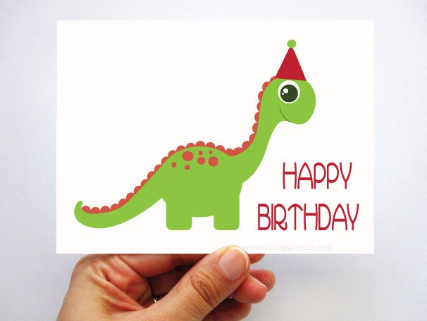 Agile image with regard to dinosaur birthday card printable