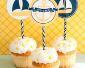 Nautical Baby Shower PRINTABLE Party Circles (INSTANT DOWNLOAD) by Love The Day