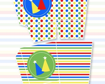 Sesame Street Inspired Party PRINTABLE Favor Box by Love The Day