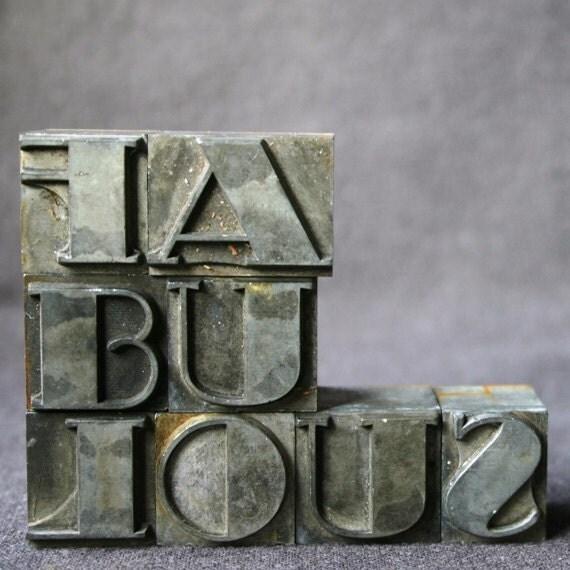 FABULOUS. Vintage printing blocs.