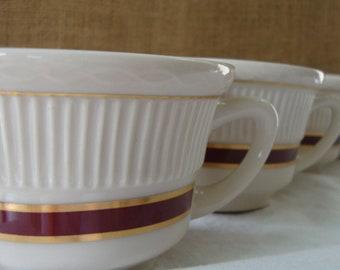 4 VINTAGE Diner Coffee Cups REGO Diner Mugs