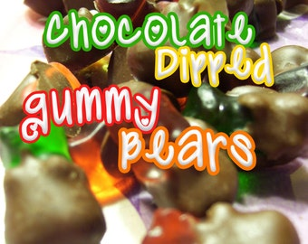 No More Naked Bears - Chocolate Dipped Gummy Bears - ONE POUND - Chocolate Covered Gummy Bears