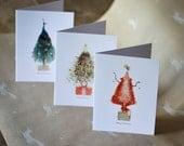 Christmas Card - Tree Creatures