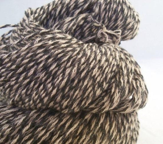 Cashmere  Yarn Black Tan Recycled Sweater Cashmere Yarn 300 yds