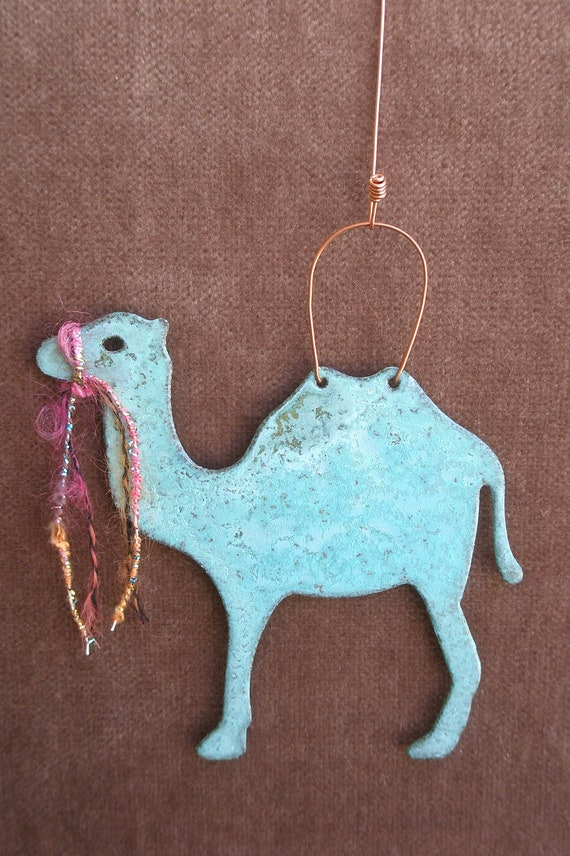 CAMEL Copper Verdigris Ornament - Handcrafted in The Copper State (Arizona USA)