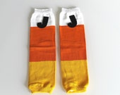 Leg Warmers -  Candy Corn Thick Stripe Halloween