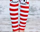 Leg Warmers - Pirate Skull Stripe