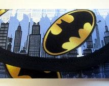 Batman Fabric, Wallet money clip, Clutch Envelope, bags and purses 7 x 3 Pouch coin purse Children teens girls women