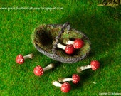Button Fly Agaric Toadstool  - WIZARD / FAIRYTALE RANGE