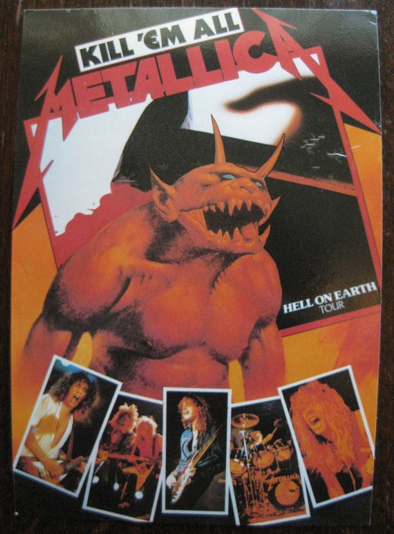 Items Similar To Vintage Metallica Promo Concert Tour