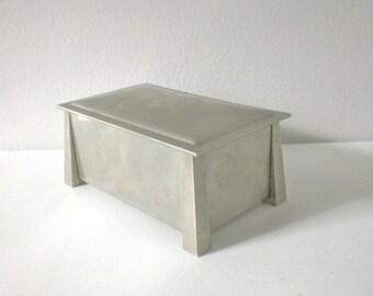 Vintage Cigarette Box L&M Nickel Silver Liggett and Myers Vintage Home Decor Arts and Crafts GallivantsVintage