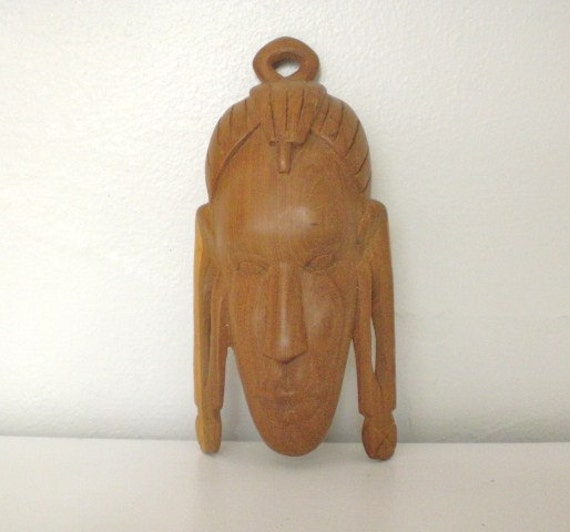 Vintage Wood Mask Hand Carved Kenya