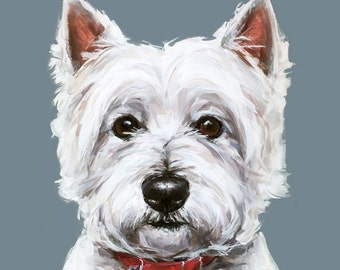 Westie dog painting art print - Ltd. Ed Collectable - West highland terrier