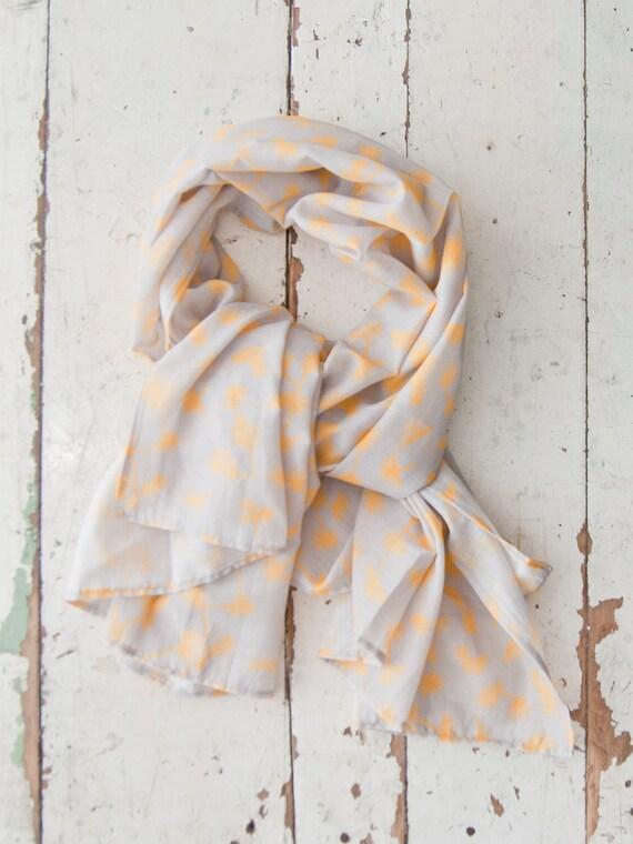 Dandelion Print Cotton Voile Scarf