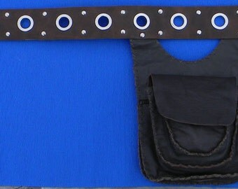 Multipouch leather belt - Festival Belt - Pouch Belt