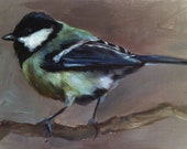 Great Tit - Bird Painting - Open Edition Print of Original Oil Painting