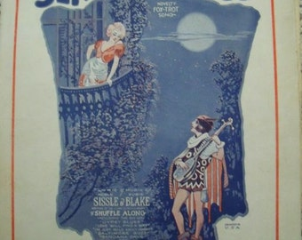 1922 Serenade Blues Novelty Fox Trot Song Book Sheet Music