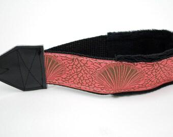 Camera Wrist Strap - Padded Camera Strap - Beach Gifts - Pink DSLR Camera Strap - Nikon Strap - Camera Accessories - Canon - Coral Seaside
