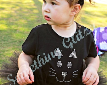 Kitty Cat Face Shirt, Black Cat Shirt, Cat Face Tank, Halloween Cat Tee, Dancing Cat Shirt, Kitty Cat Shirt