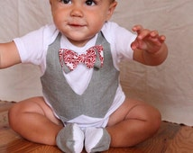 baby boy Christmas shirt, baby boy,Christmas Bow tie, Christmas Gift set,