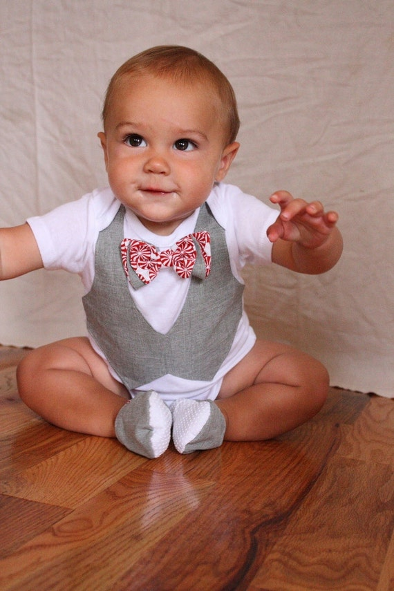 Items similar to baby boy christmas shirt and shoes for Baby shirt and bow tie