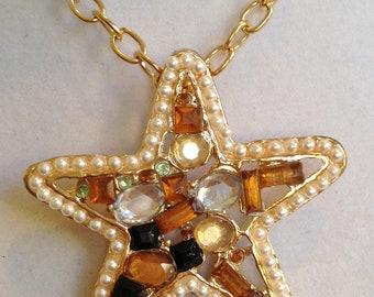 Crystal Studded Star Necklace