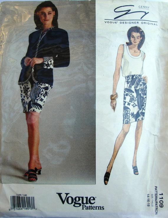 Vogue Designer Original 1109 Skirt Jacket Top Pattern